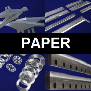 machine knives for the paper cutting industry